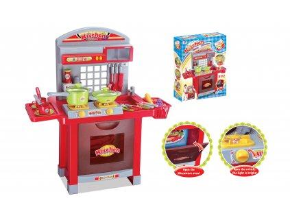 G21 Hračka Detská kuchynka Superior s príslušenstvom červená