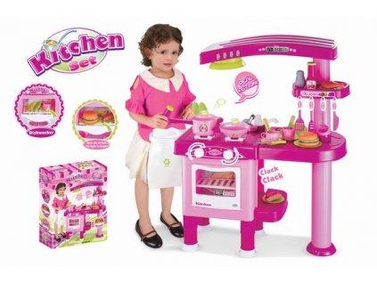 G21 Hračka Detská kuchynka veľká s príslušenstvom ružová