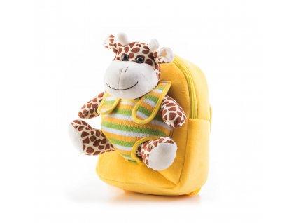 G21 Batoh s plyšovou žirafou, žltý