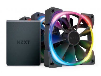 NZXT Aer RGB 2 Series Triple Starter kit / HF-2812C-T1 / HUE 2 / 3x 120 mm / 22 – 33 dBA / 4-pin