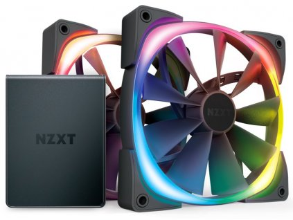 NZXT Aer RGB 2 Series Twin Starter kit / HF-2814C-D1 / HUE 2 / 2x 140 mm / 22 – 33 dBA / 4-pin