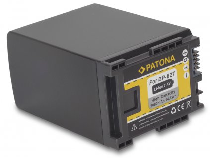 PATONA PT1145 pre Canon BP-827 2000mAh - neoriginálna