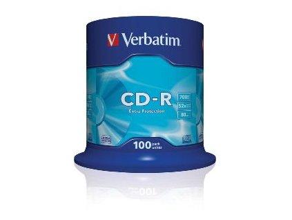 VERBATIM CD-R(100-Pack)Spindl/ExtraProtect/52x/700