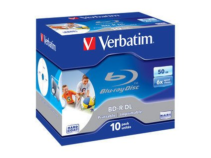 VERBATIM BD-R DL (6x, 50GB), 10ks/pack