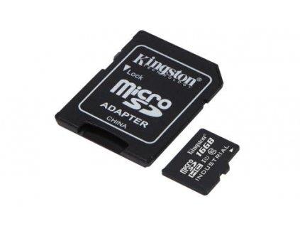 KINGSTON microSDHC 16GB UHS-I  + adapter