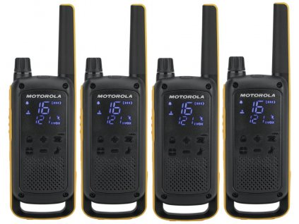 Motorola TLKR T82 Extreme Quadpack (4 ks, dosah až 10 km), IPx4