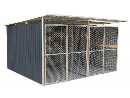 G21 Koterec pre psa KEN 886 - 322 x 275 cm, dvojmiestny, šedý