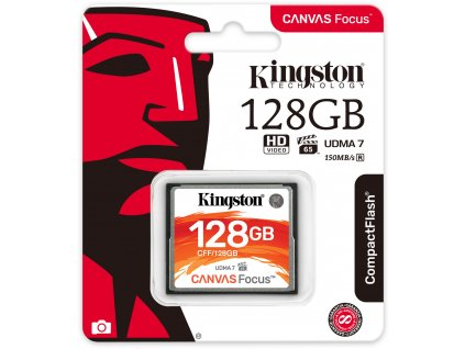 Kingston CompactFlash Canvas Focus 128GB