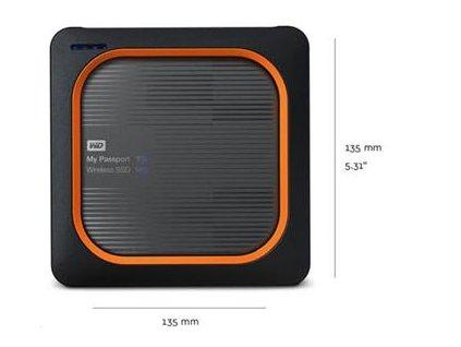 WD My Passport Wireless SSD 500GB Ext. USB3.0, SD Card
