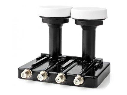 NEDIS LNB konvertor/ monoblok se čtyřmi výstupy 4.3/ úroveň šumu: 0,2–0,85 dB