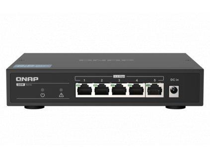 QNAP QSW-1105-5T (5x 2,5GbE port, pasivní chlazení, podpora 100M/1G/2,5G)