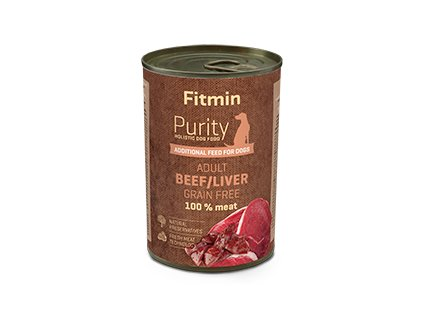 Fitmin dog Purity tin beef - iver 400g