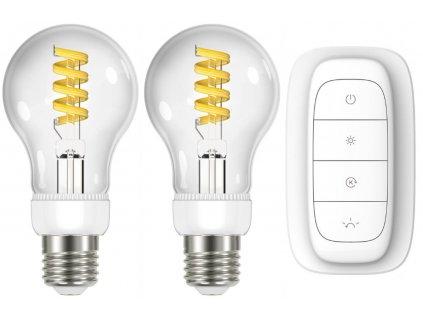 IMMAX NEO Smart sada žárovek filament 2x E27 5W, teplá, studená bílá + ovladač Zigbee 3.0