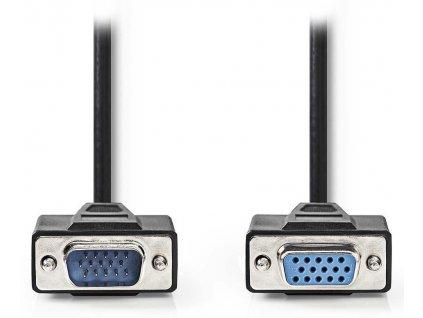 NEDIS prodlužovací kabel VGA (D-SUB)/ zástrčka VGA - zásuvka VGA/ černý/ 5m