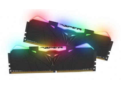 PATRIOT Viper RGB 16GB DDR4 Black 4133 MHz / DIMM / CL19 / Heat shield / KIT 2x 8GB