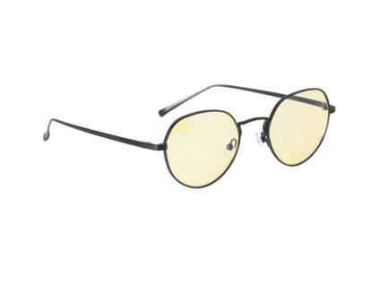 GUNNAR kancelárske okuliare PHENOM GRAPHITE / grafitové Obrúčky / jantárové sklo