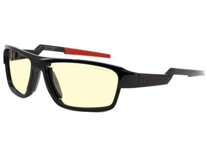 GUNNAR Lightning Bolt 360 / obroučky ONYX / měnitelná sluneční skla / 3 druhy nožiček / jantarová skla