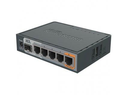 MikroTik RouterBOARD RB760iGS, hEX S, 5xGLAN, SFP, USB, L4, PSU