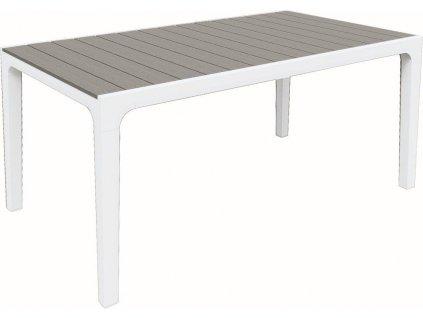 Záhradný stôl Keter Harmony biela / svetlo-sivá