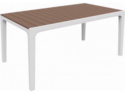 Záhradný stôl Keter Harmony biely / cappuccino