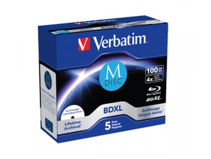 Verbatim Blu-ray M-DISC BD-R 100GB 4x Printable jewel box, 5ks/pack
