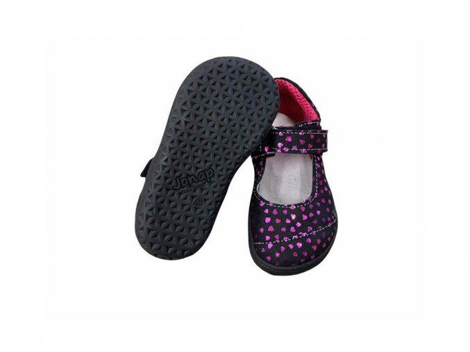 Jonap barefoot baleríny B14/S červené srdce