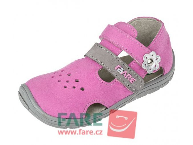 FARE BARE letní sandále růžové B5464251
