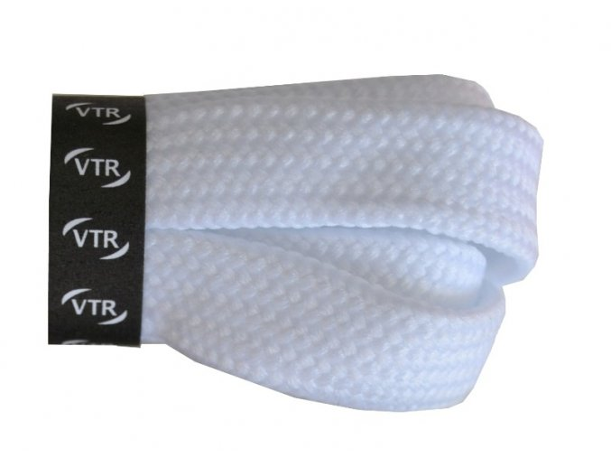 Bavlněné tkaničky ploché SKATE bílé