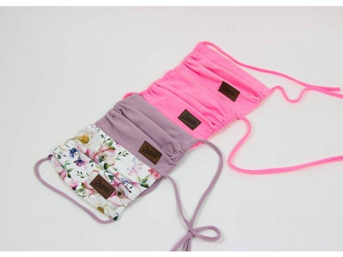 1585746839 drexiss dvouvrstva designova rouska ustenka s kapsou na filtr flowers old pink a neon pink triangl neon pink 1600 1600 0