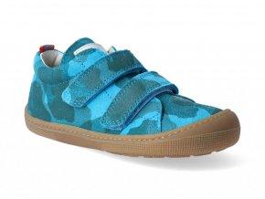 2396 2 barefoot tenisky koel blue camo velour 3