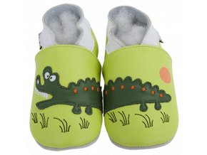 Chaussons cuir Crocodile Front 1