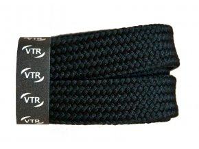 Bavlněné tkaničky ploché SKATE černé