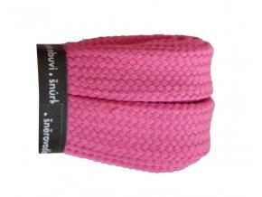 Bavlněné tkaničky ploché SKATE růžové