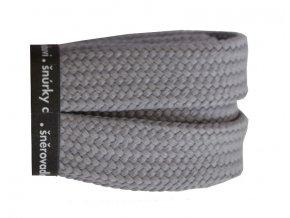 Bavlněné tkaničky ploché SKATE šedé