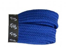 Bavlněné tkaničky ploché SKATE modré