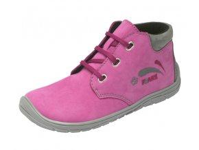 FARE BARE dětské celoroční boty růžové na šněrování 5221251