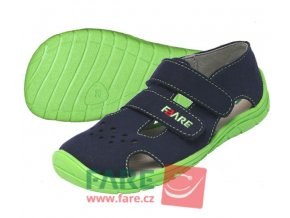 FARE BARE letní modro-zelené sandále 5262201