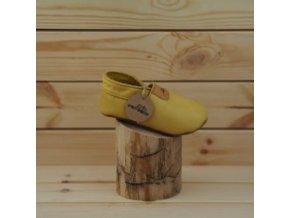 Bosé kožené capáčky Pegres B1098 žluté