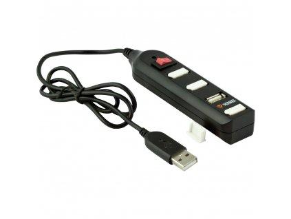YHB 4002BK Hub 4 x USB 2.0 černý YENKEE