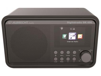 Albrecht DR 490 Black internetové rádio s DAB+