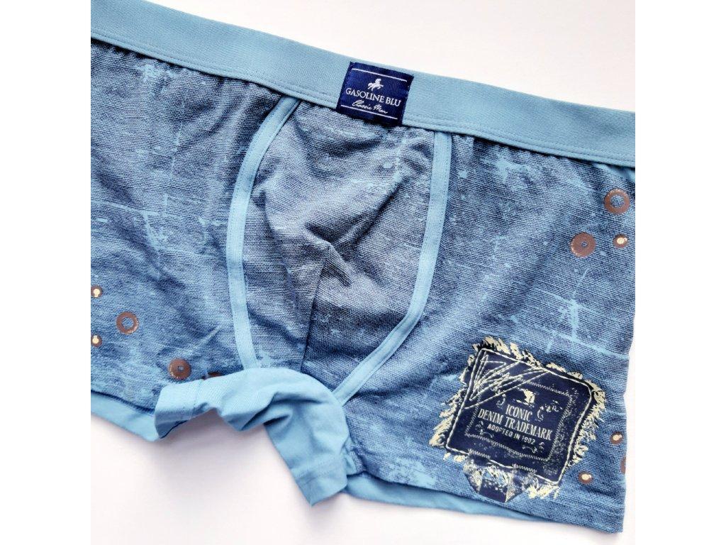 Gasoline Blu 4984 pánské boxerky (Barva modrá, Velikost oblečení M)