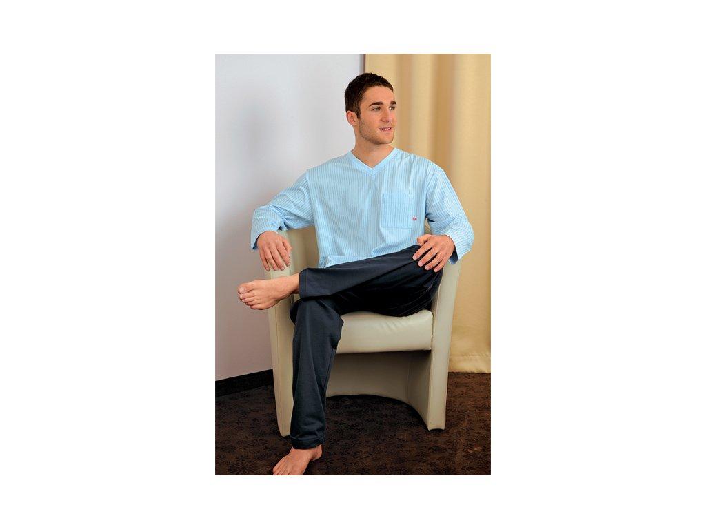 Andrie PS 9135 pánské pyžamo (Barva modrá tmavá, Velikost oblečení M)