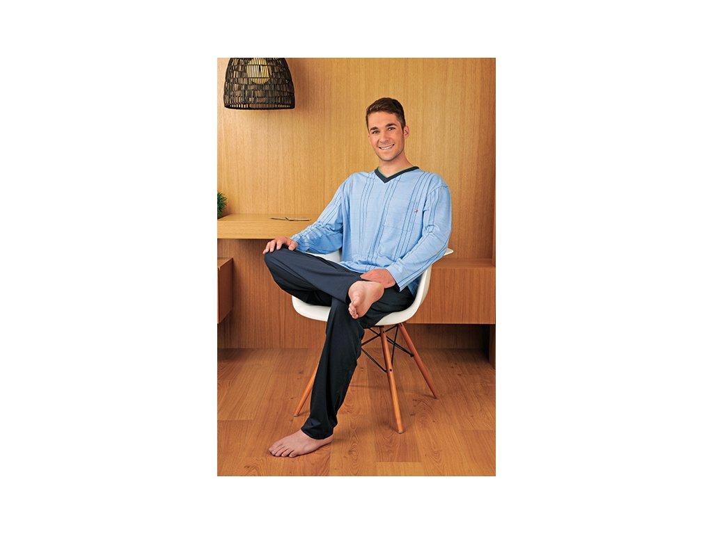 Andrie PS 9140 pánské pyžamo (Barva modrá tmavá, Velikost oblečení M)