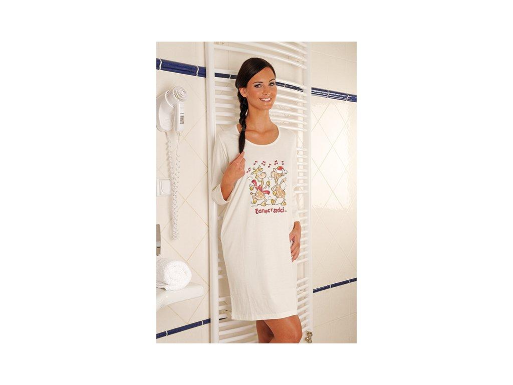 Andrie PS 9163 dámská noční košile (Barva smetanová, Velikost oblečení S)