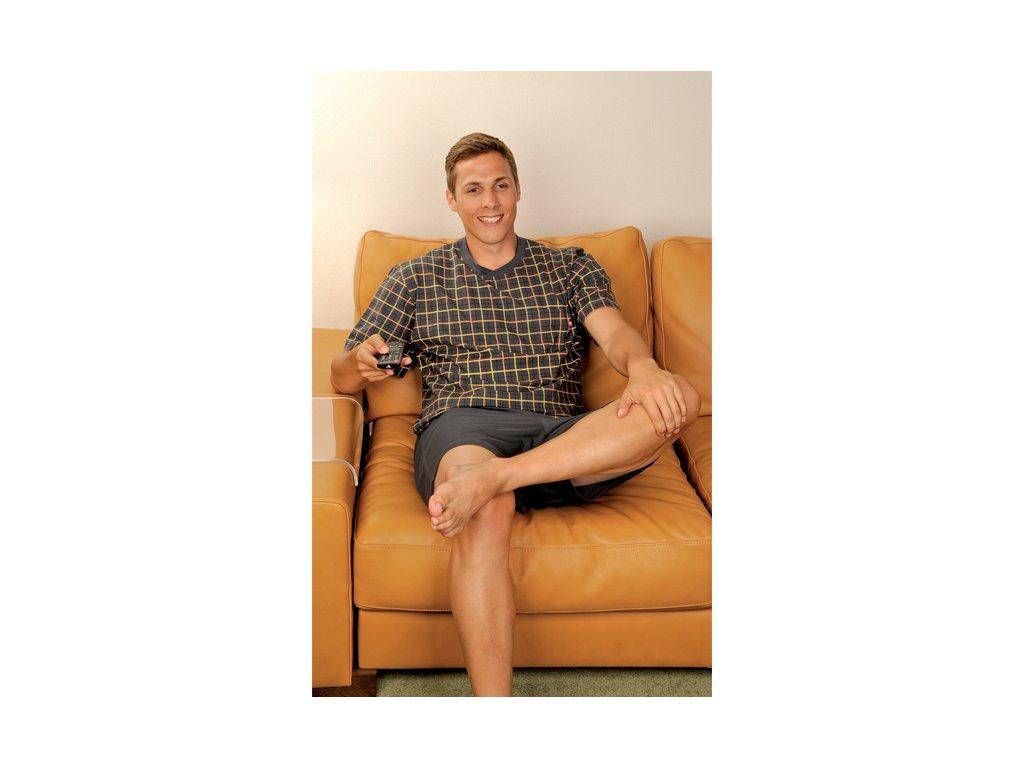 Andrie PS 9193 pánské pyžamo (Barva vínová, Velikost oblečení M)