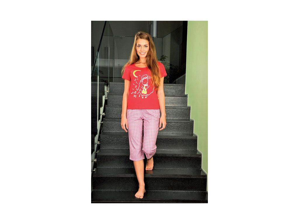 Andrie PS 9201 dámské pyžamo (Barva fialová, Velikost oblečení XL)