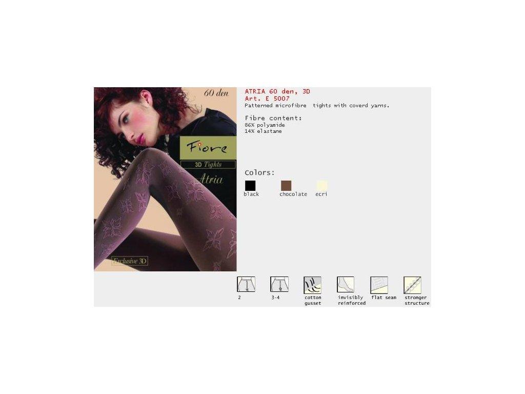 FIORE 5007 ATRIA dámské punčochy (Barva hnědá, Velikost oblečení M)