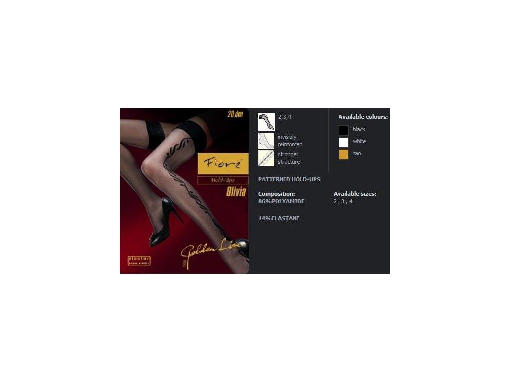 FIORE 4008 OLIVIA dámské punčochy (Barva tan, Velikost oblečení S)