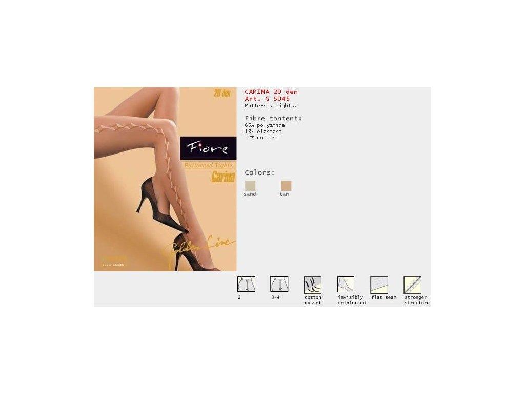 FIORE 5045 CARINA dámské punčochy (Barva tan, Velikost oblečení M)