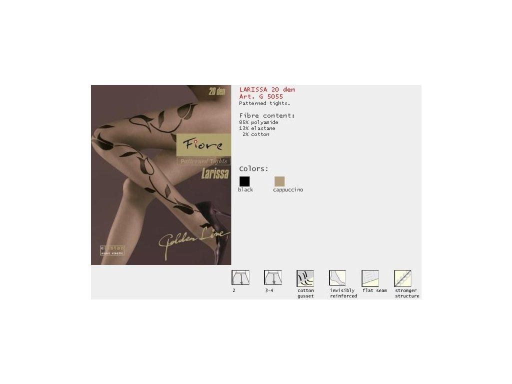 FIORE 5055 LARISSA dámské punčochy (Barva černá, Velikost oblečení S)